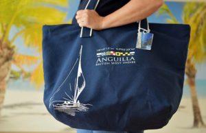 Anguilla Sailing Navy Blue Beach Bag
