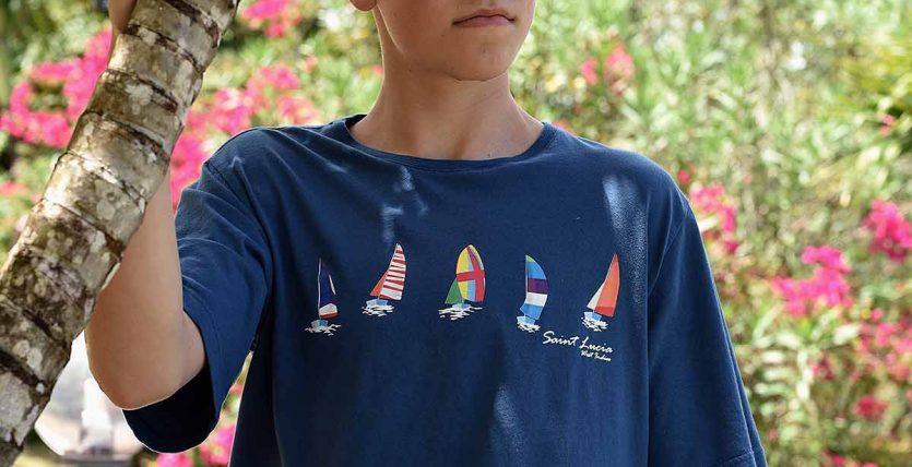 St. Lucia T-shirt Sail Boats