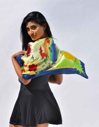 Mulberry Silk Scarf St. Lucia in Yellow