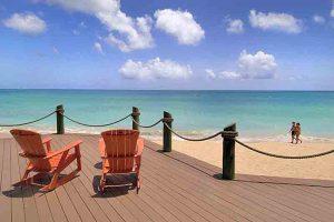 Galley Bay Beach in Antigua by Happy Barracuda