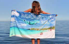 Sint Maarten Beach Towel Happy Barracuda
