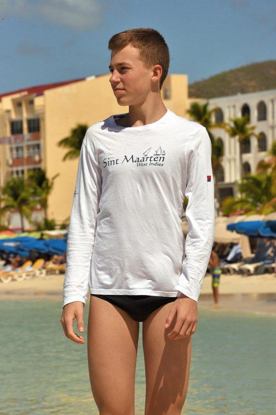 Shipwreck Shops Sint Maarten Long Sleeve Shirt Happy Barracuda