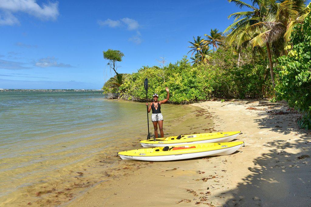 Natural Beach in Praslin Bay, Saint Lucia