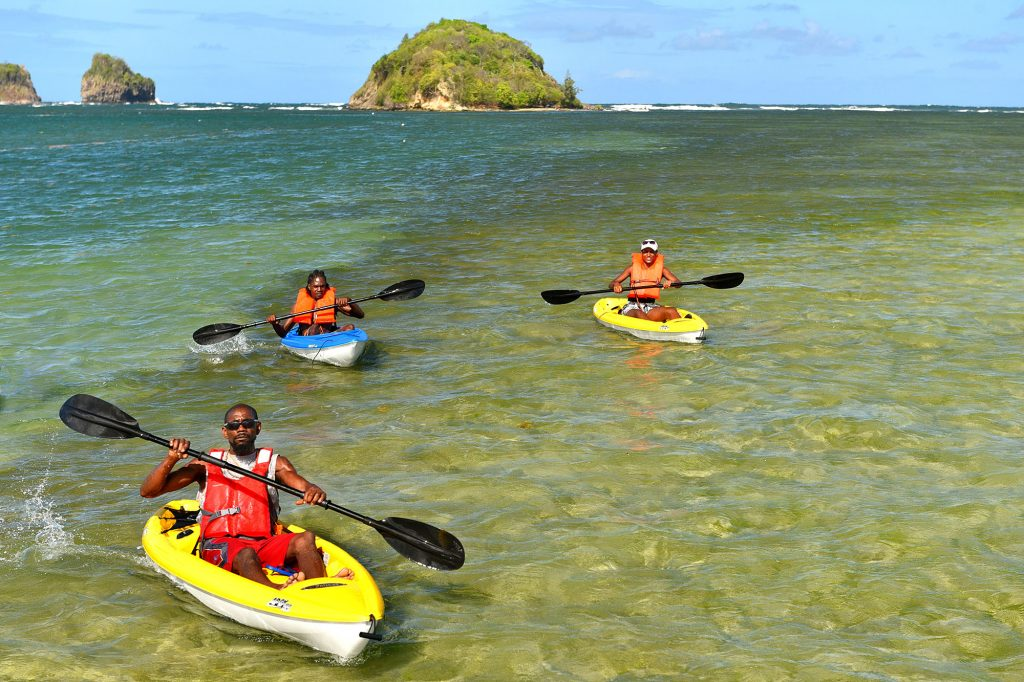 Kayaking to Praslin Island in Saint Lucia