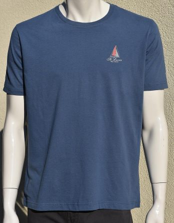 T-shirt Men 100% cotton logo St. Lucia Sailing Boat - Front
