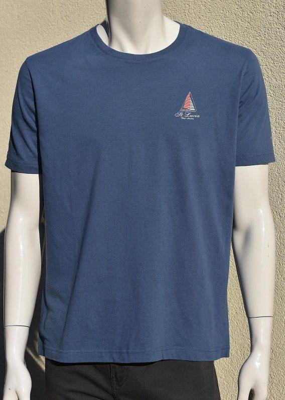 T-shirt Men 100% cotton logo St. Lucia Sailing Boat - Front