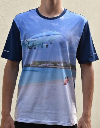 T-shirt men digital print full colour St. Maarten Maho Beach