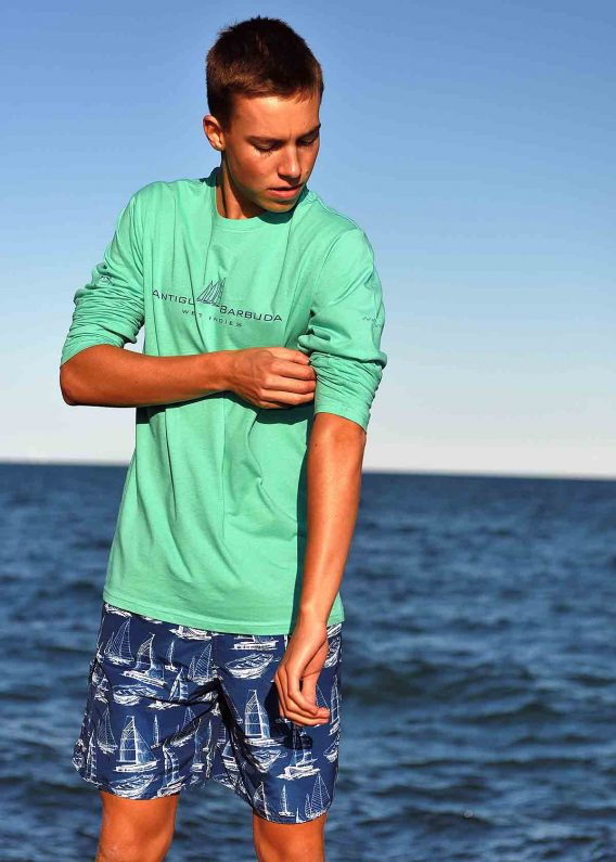 Antigua Long Sleeve T-shirt Mint