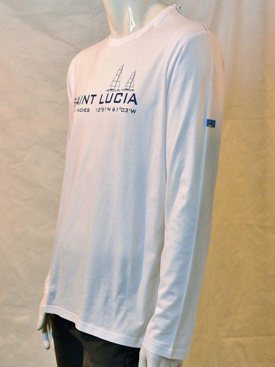 St. Lucia t-shirt navy scuba flag white red diver