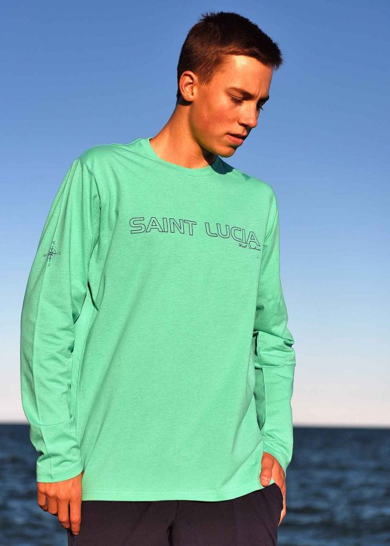Mens t-shirt long sleeve mint