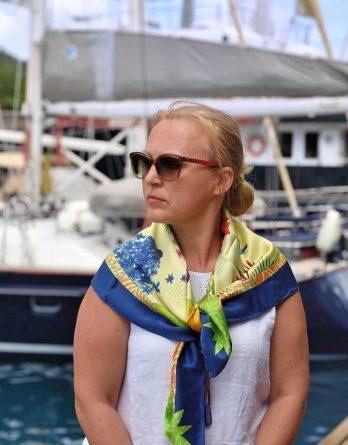 Saint Lucia Silk Scarf gift