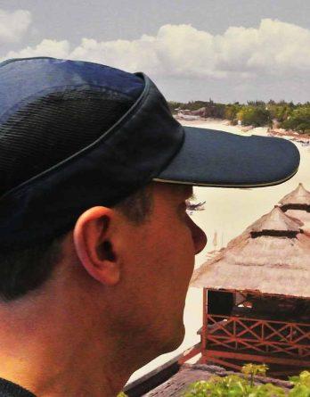 Convertible Visor Cap Navy St. Maarten