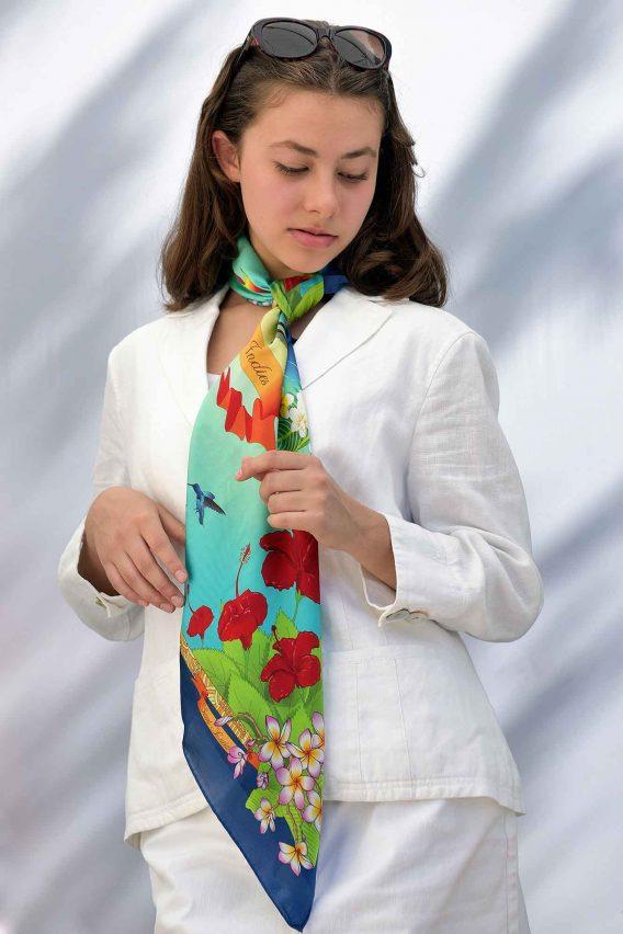 Silk Scarf - many ways to tie