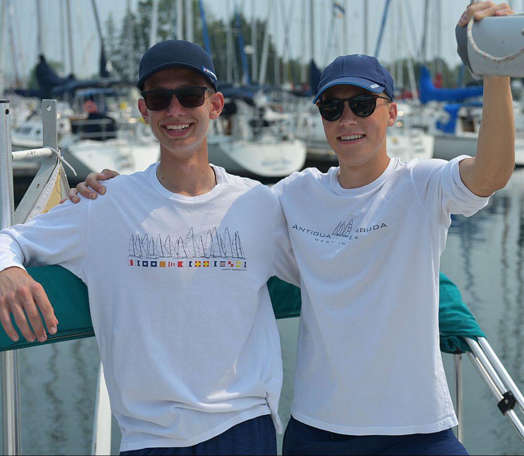 HappyBarracuda Long Sleeve Nautical regatta white t-shirt