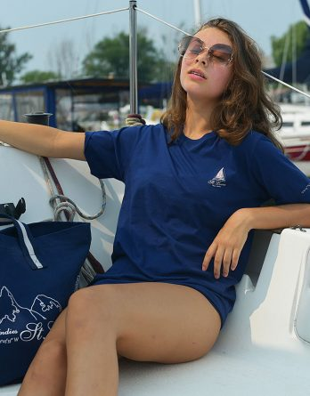 HappyBarracuda Nautical Beach Bag t-shirt St. Lucia Navy