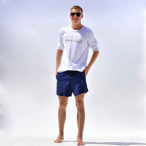 Happy Barracuda Long Sleeve T-shirt White Nautical Style