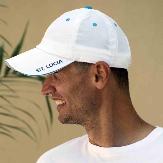 Lightweight Baseball Cap White St. Lucia