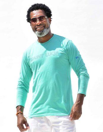 Happy Barracuda Long Sleeve T-shirt Mint Green Nautical Style