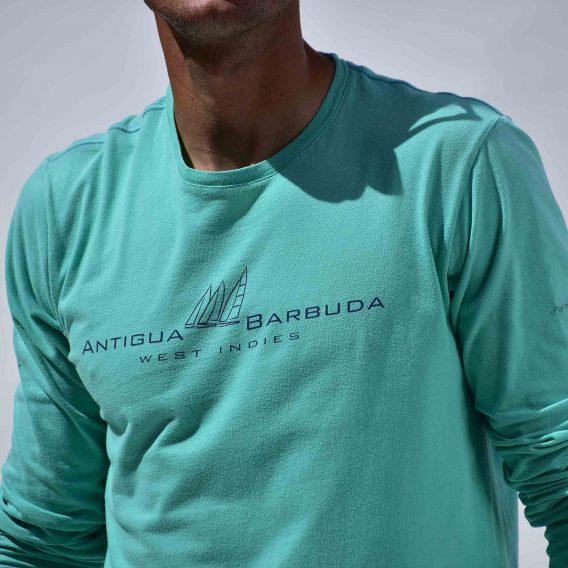 Long Sleeve T-Shirt Mint Green Antigua Barbuda