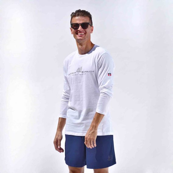 Long Sleeve T-Shirt White Antigua Barbuda