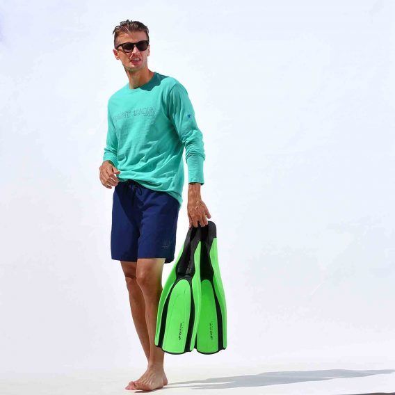 Long Sleeve T-Shirt Mint Green St. Lucia